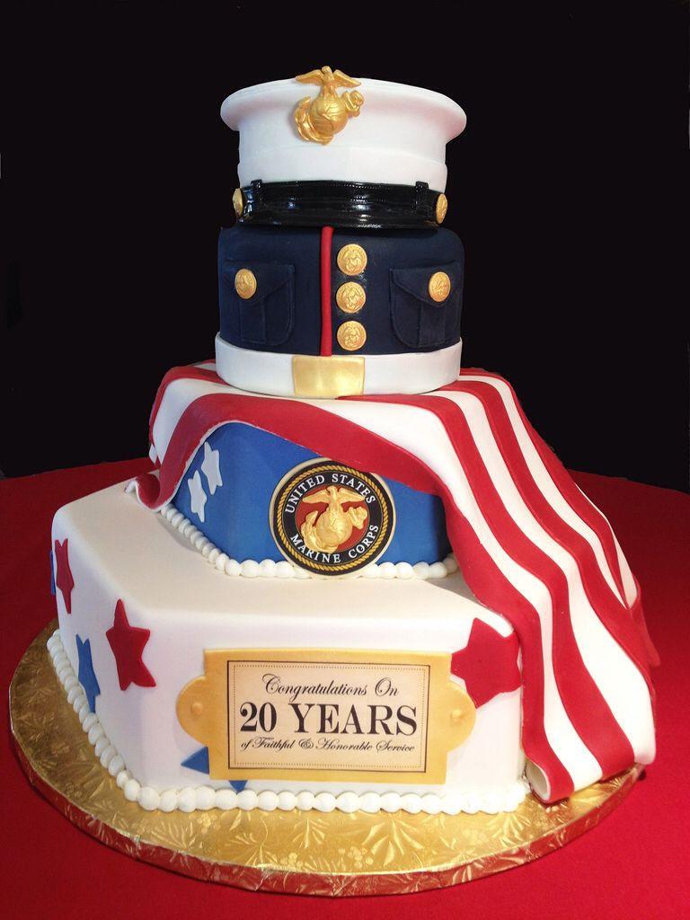 Navy Retirement Party Ideas  Marine Corps Retirement Cake
