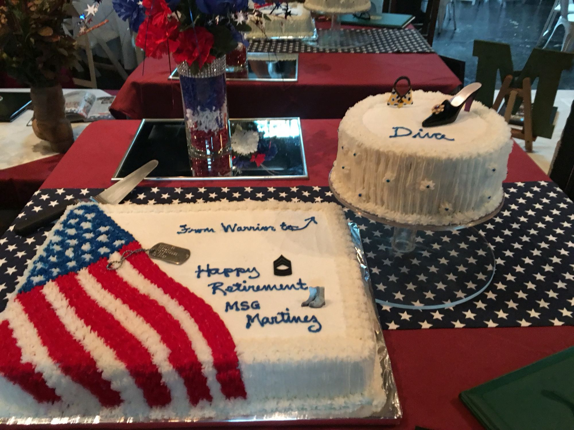 Navy Retirement Party Ideas  Military retirement party cake table set up … …