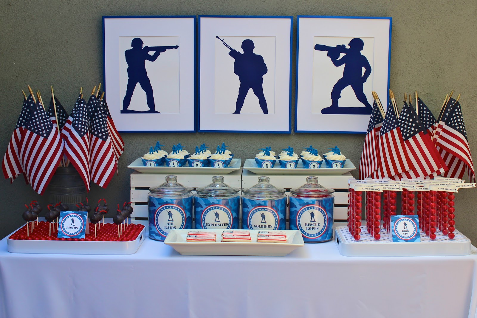 Navy Retirement Party Ideas  bloom designs Military Party in Bloom