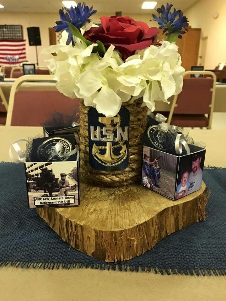 Navy Retirement Party Ideas  Military retirement centerpieces