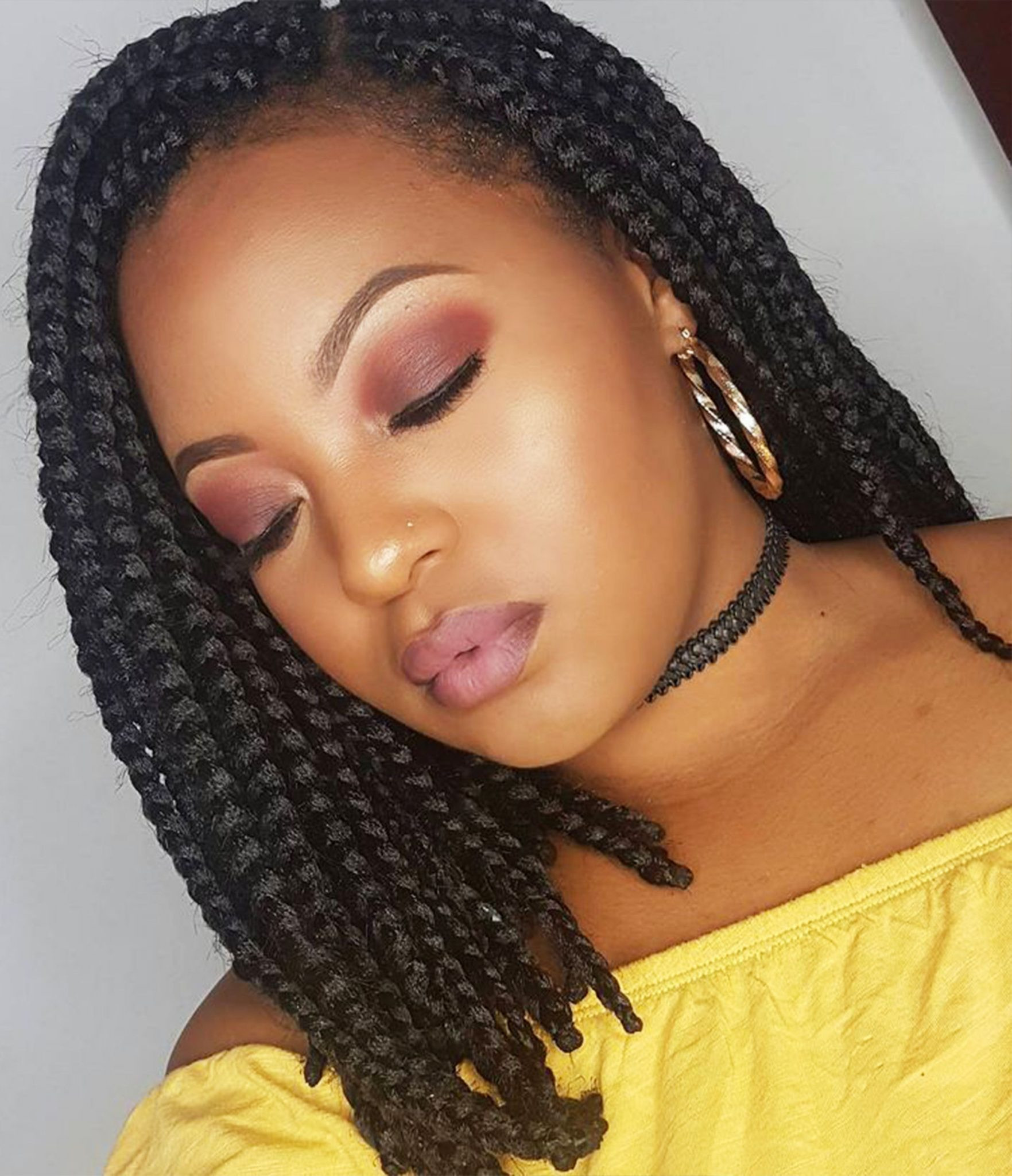 New Braids Hairstyle  14 Dashing Box Braids Bob Hairstyles for Women