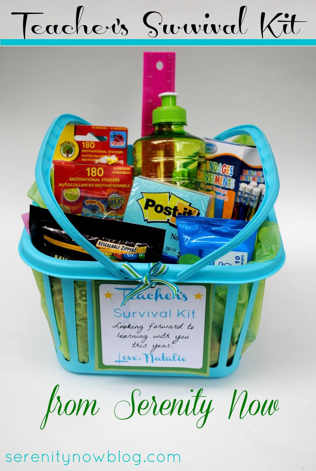 New Teacher Gift Basket Ideas  Serenity Now Teacher Survival Kit 1st Day of School