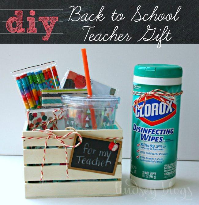 New Teacher Gift Basket Ideas  DIY Back to School Teacher Gift Ideas for Under $10