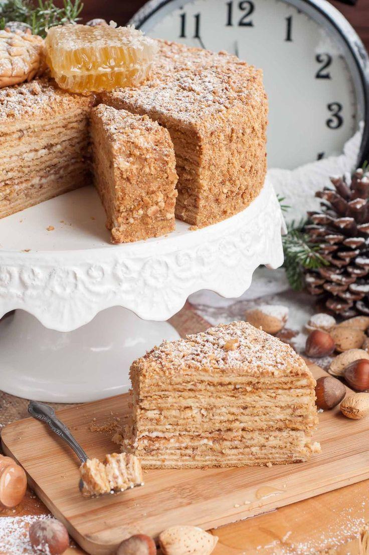 New Year Day Dessert Traditions  New Year s Honey Cake Medovik Recipe