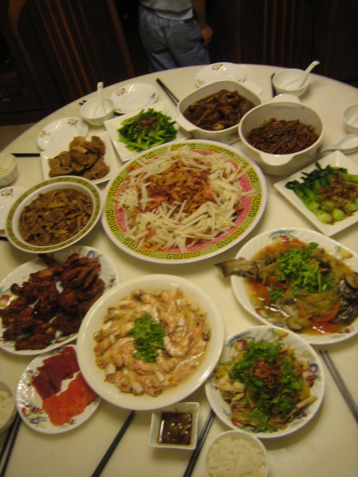 New Year Dinner  Apprentice Chef 2010 Chinese New Year Reunion Dinner Menu
