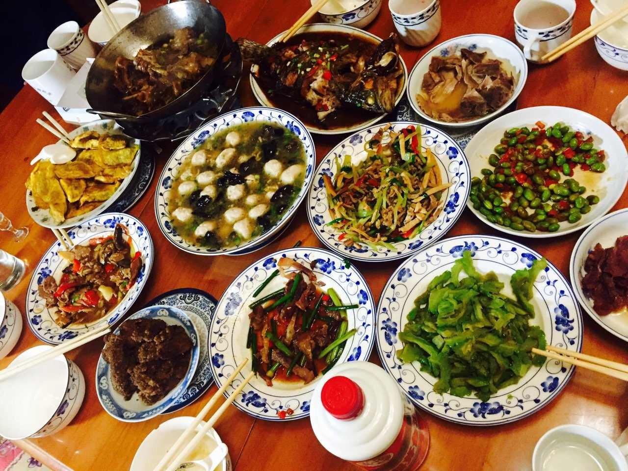 New Year Dinner  Chinese New Year is about family friends and food