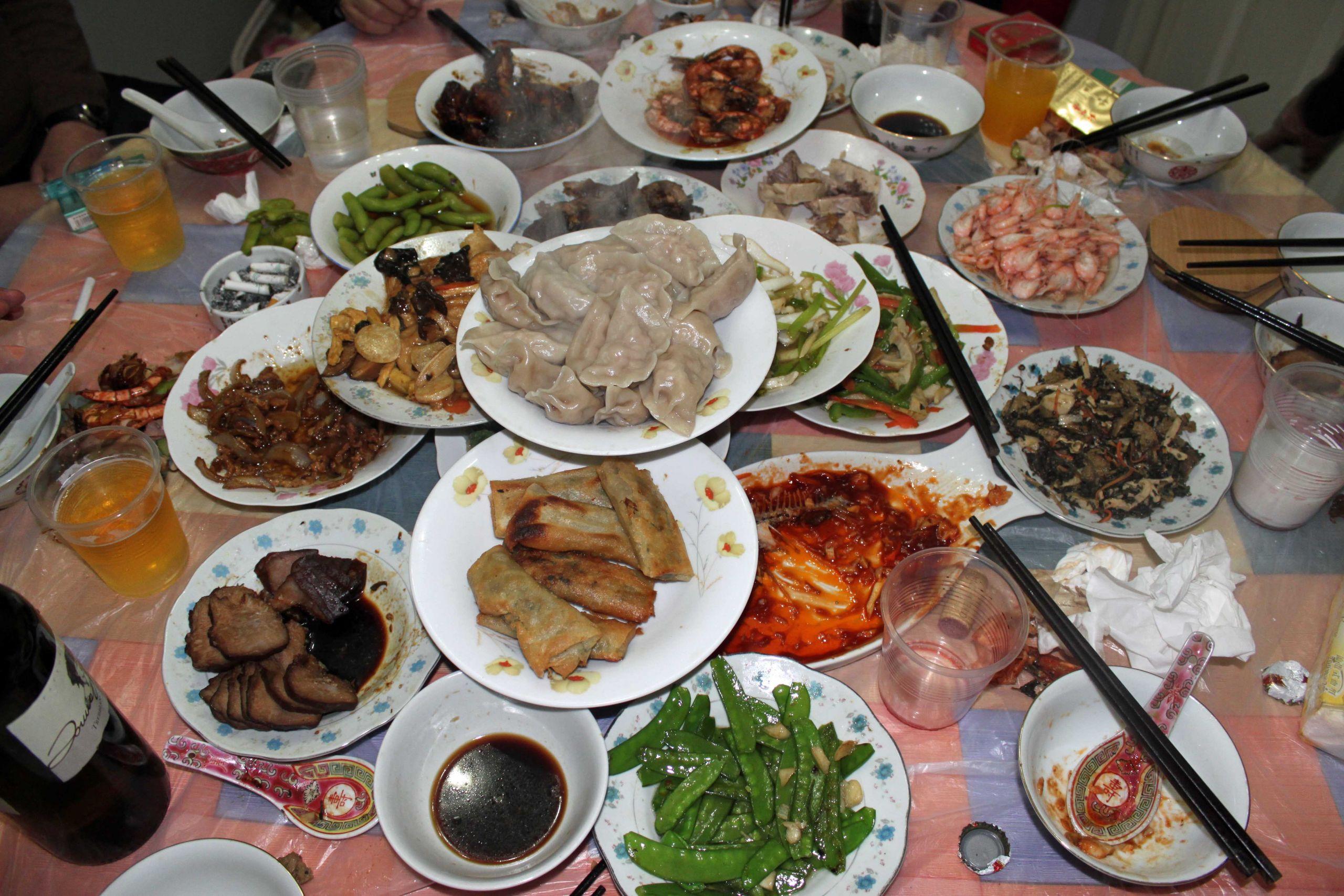 New Year Dinner  新年快乐 Xin Nian Kuai le Happy Chinese New Year