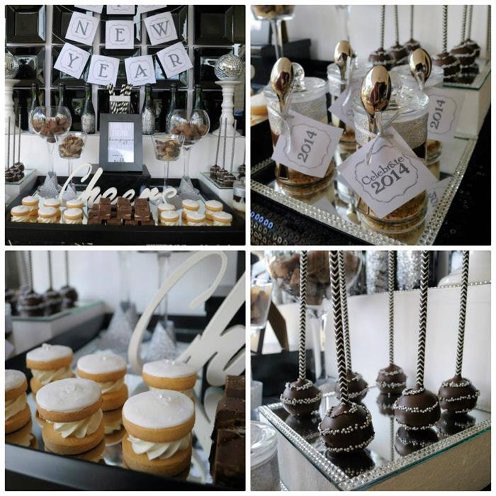 New Year'S Eve Desserts Party Ideas  Kara s Party Ideas New Year s Eve Dessert Bar Party Ideas