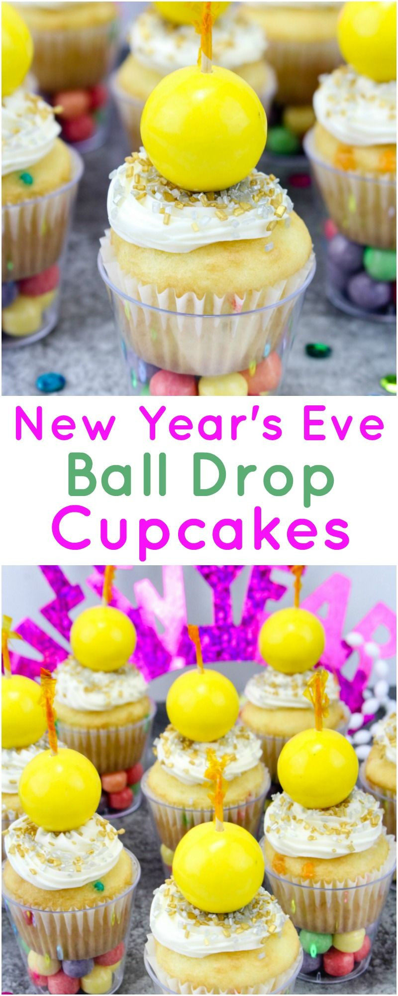 New Year'S Eve Desserts Party Ideas  New Year's Eve Ball Drop Cupcakes Recipe