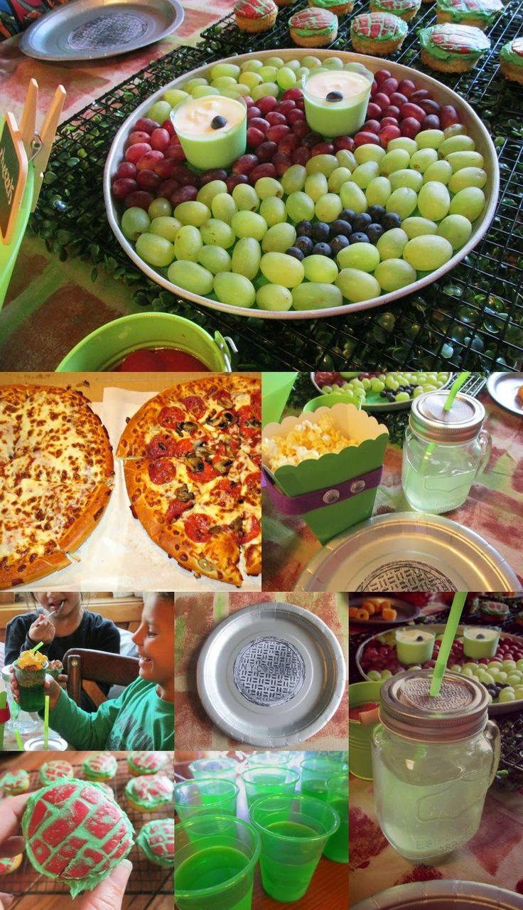 Ninja Turtles Birthday Party Food Ideas  106 best Ninja turtle Party images on Pinterest