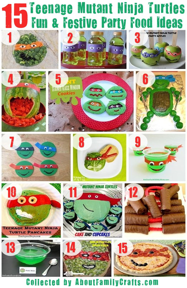 Ninja Turtles Birthday Party Food Ideas  75 DIY Teenage Mutant Ninja Turtles Birthday Party Ideas
