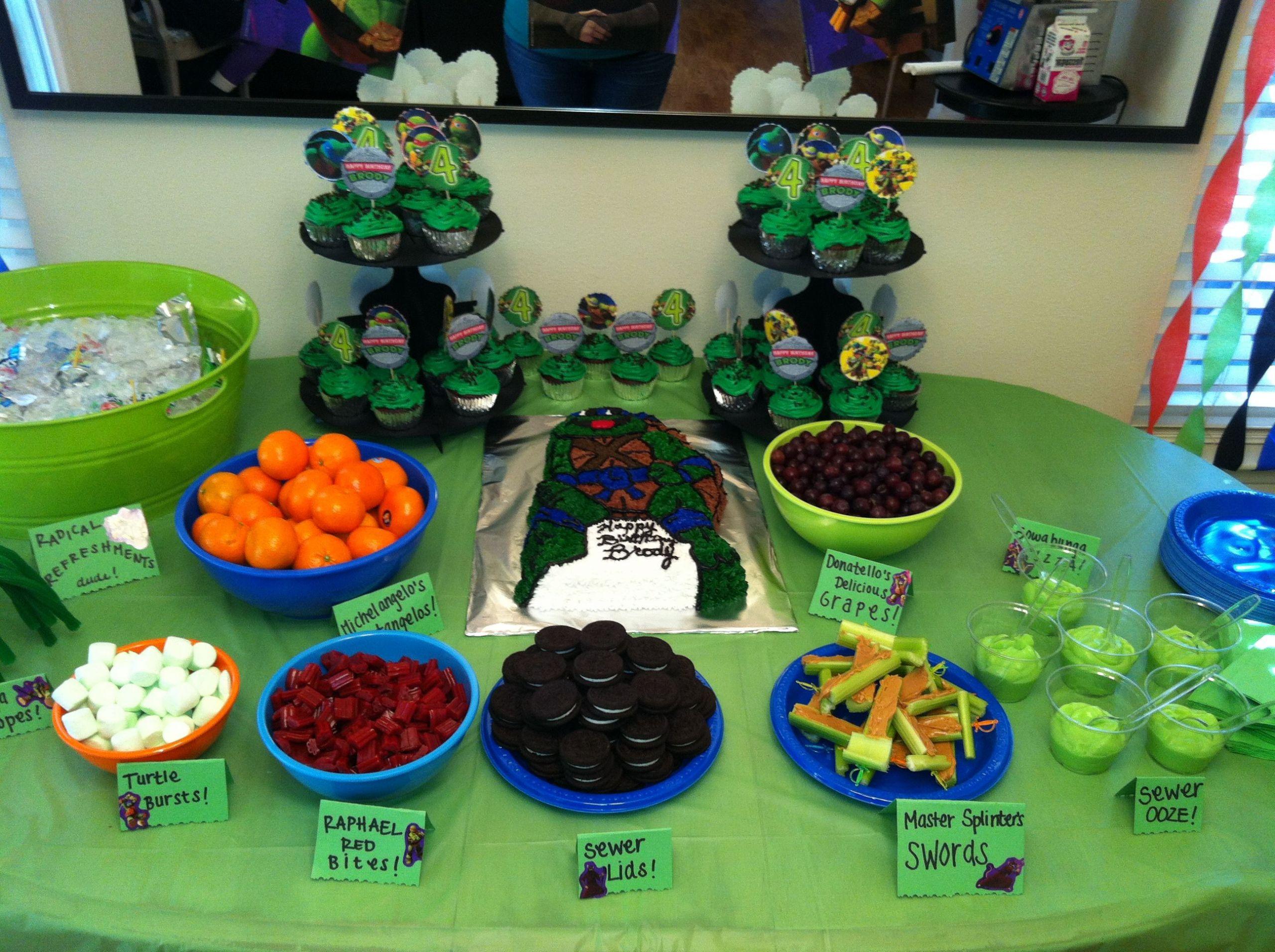 Ninja Turtles Birthday Party Food Ideas  Antifaz Tortugas Ninja Para Imprimir