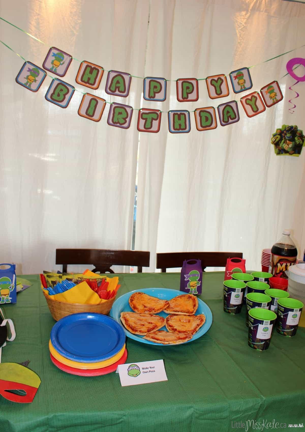 Ninja Turtles Birthday Party Food Ideas  Teenage Mutant Ninja Turtle Inspired Birthday Party Food