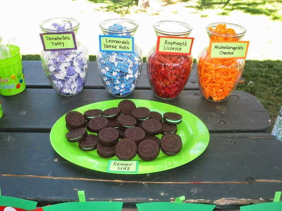 Ninja Turtles Birthday Party Food Ideas  Ninja turtle party food …
