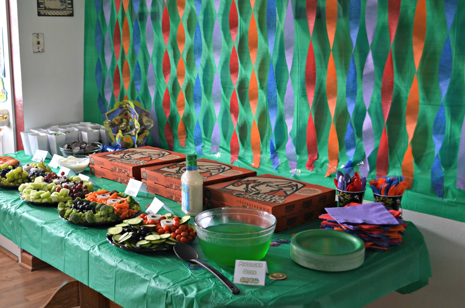 Ninja Turtles Birthday Party Food Ideas  Teenage Mutant Ninja Turtle Birthday Party