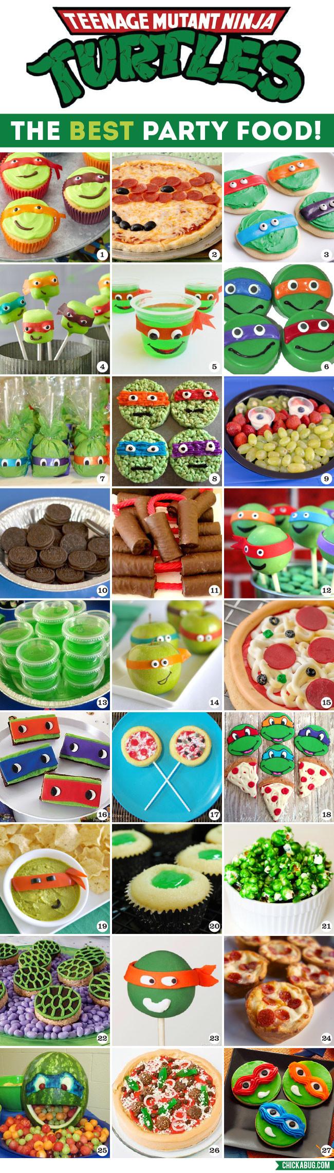 Ninja Turtles Birthday Party Food Ideas  The Best TMNT Party Food