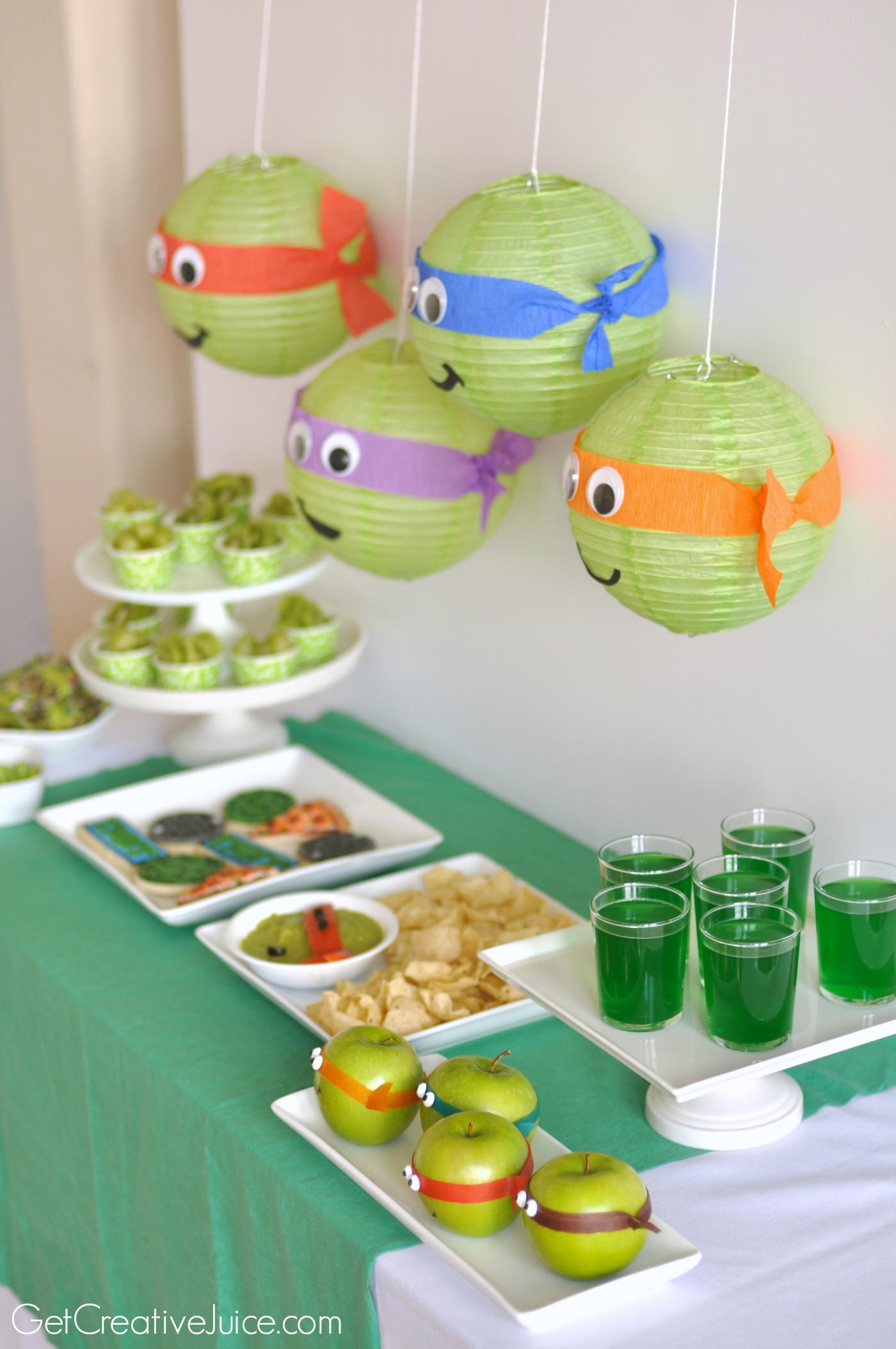 Ninja Turtles Birthday Party Food Ideas  TMNT Party Creative Juice