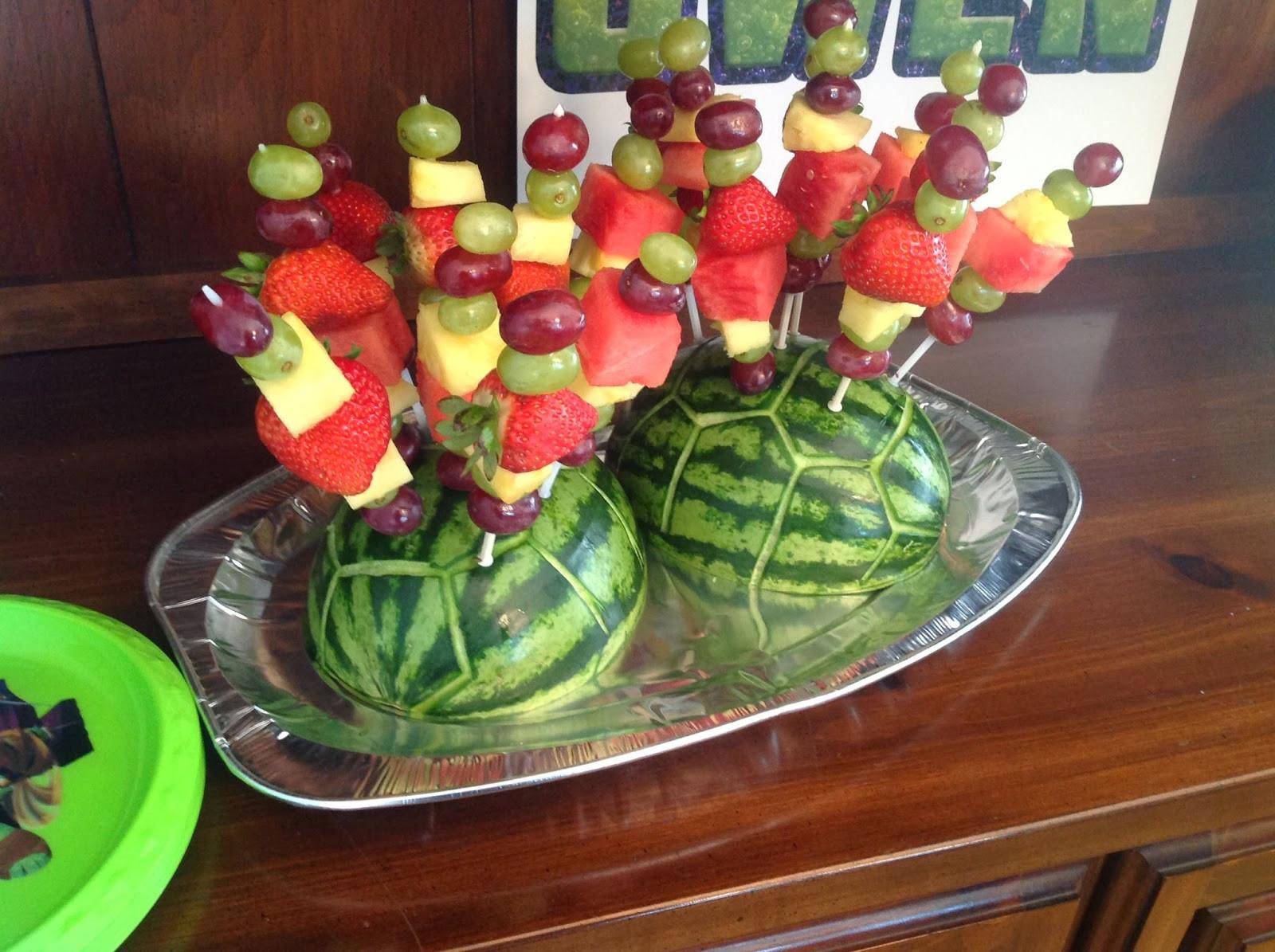 Ninja Turtles Birthday Party Food Ideas  my back pages owen s 4th teenage mutant ninja turtle