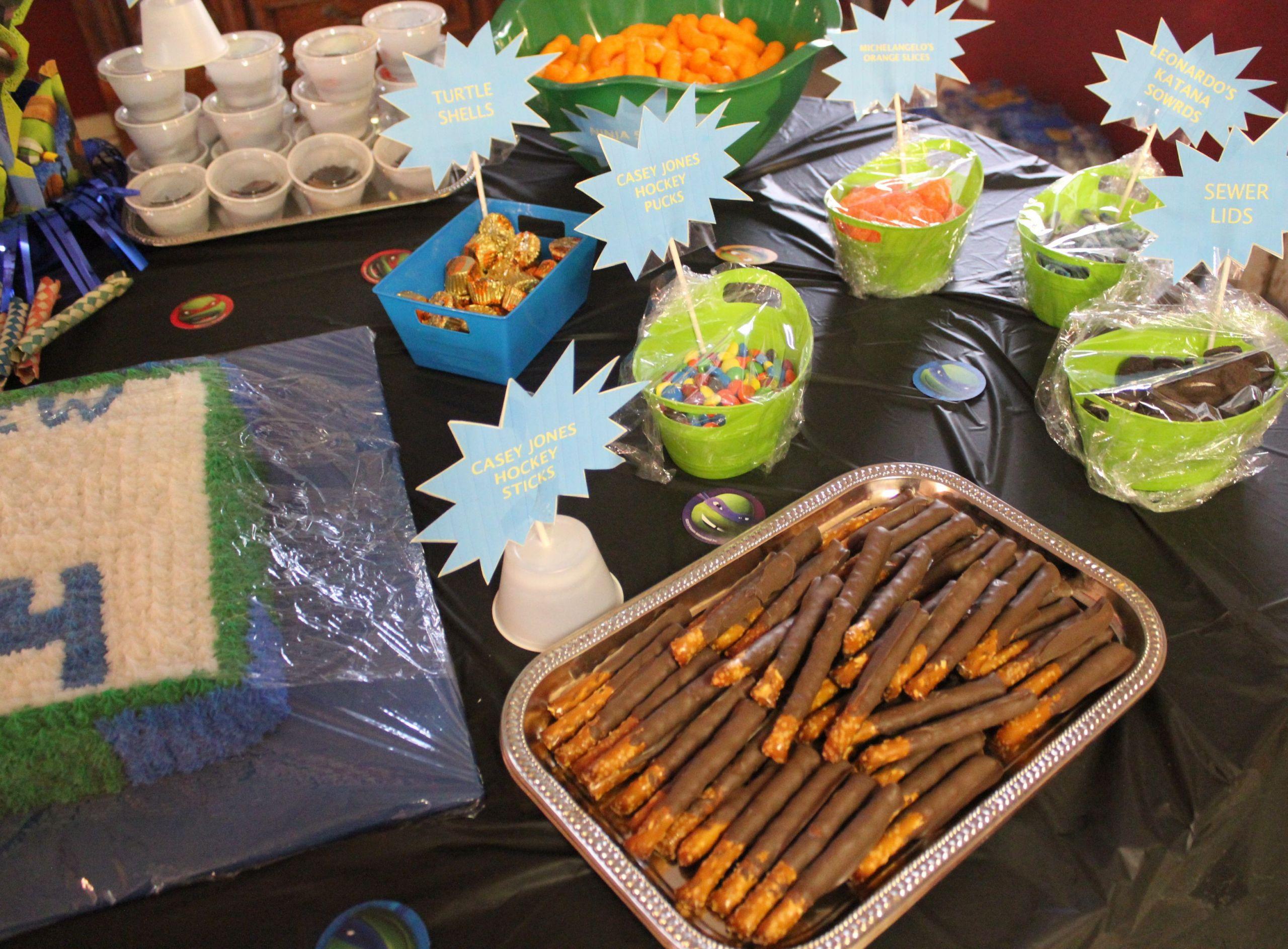 Ninja Turtles Birthday Party Food Ideas  Ninja Turtle party food