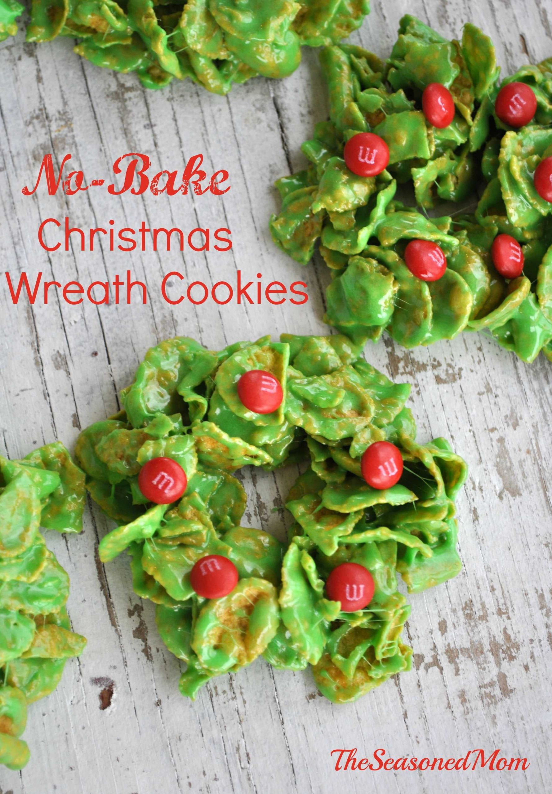 No Bake Holiday Cookies  Holiday Cookies with M&M s Can s The Seasoned Mom