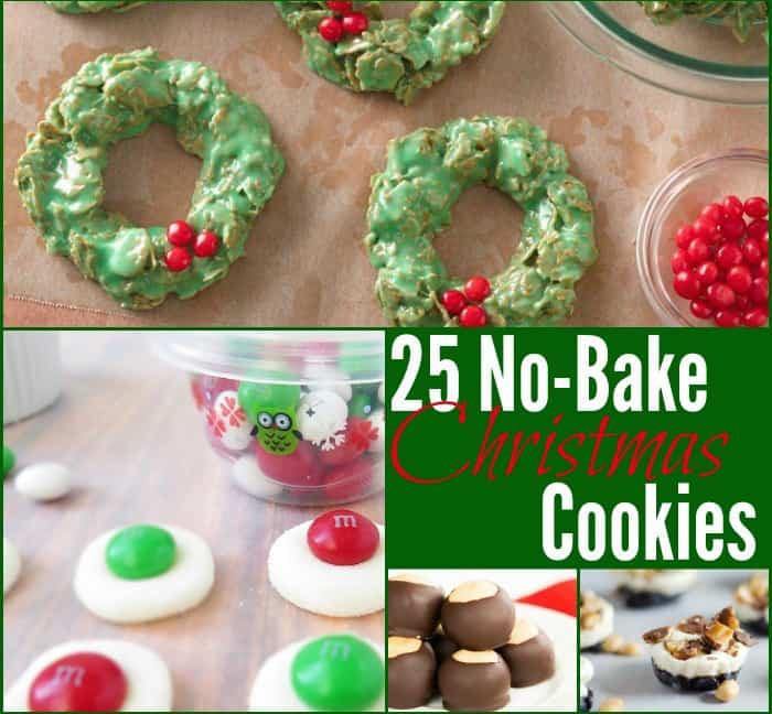No Bake Holiday Cookies  25 No Bake Christmas Cookies