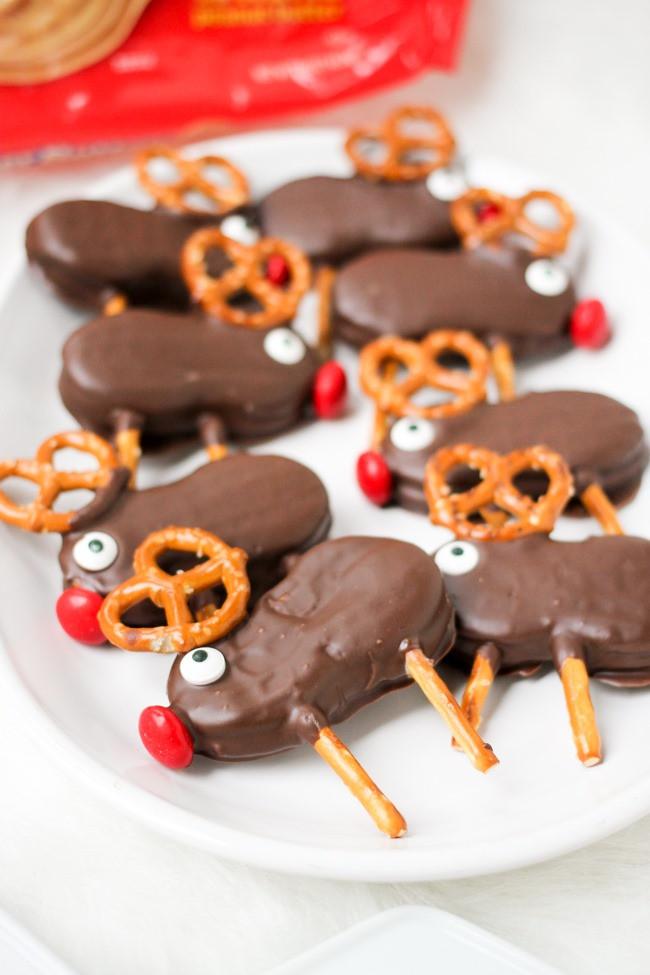 No Bake Holiday Cookies  Holiday Reindeer Cookies Domestic Superhero