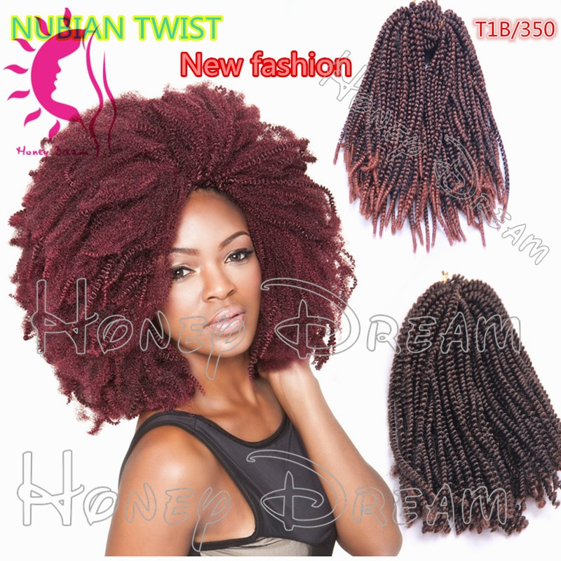 Nubian Twist Crochet Hairstyles  Hot Sale 16inch Nubian twist Spring Curl Crochet Braids