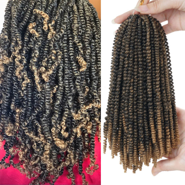 Nubian Twist Crochet Hairstyles  8inch 50strands Nubian Twist Crochet Braids Ombre