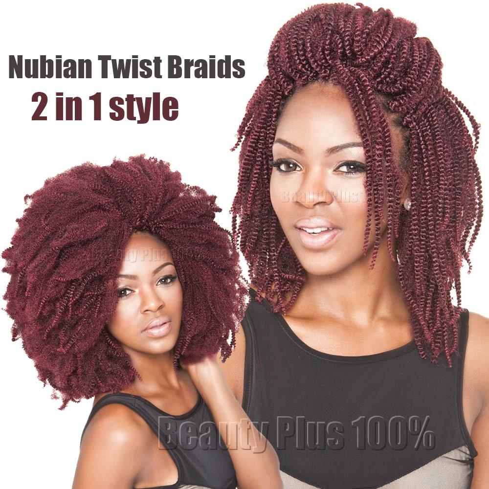 Nubian Twist Crochet Hairstyles  New Spring Curl Crochet Braids Synthetic Kinky Curly Hair
