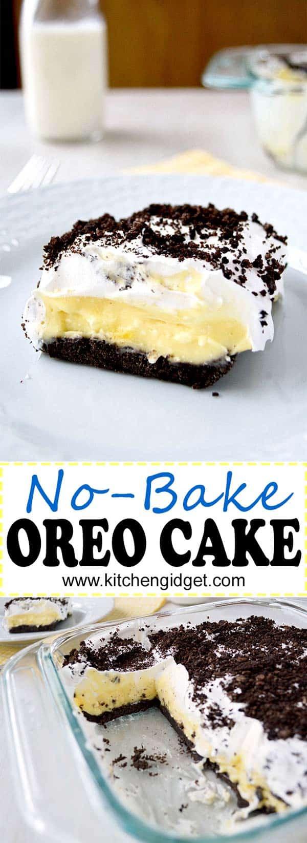 Oreo Dessert With Cool Whip  Oreo Cake