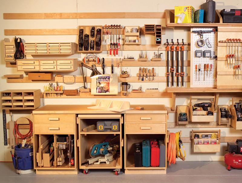Organize Garage Workshop  Hyperorganize Your Shop Popular Woodworking Magazine