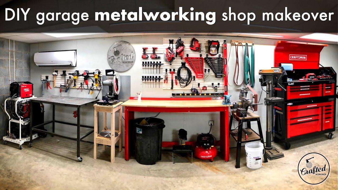 Organize Garage Workshop  DIY Garage Metalworking Shop Makeover and Organization