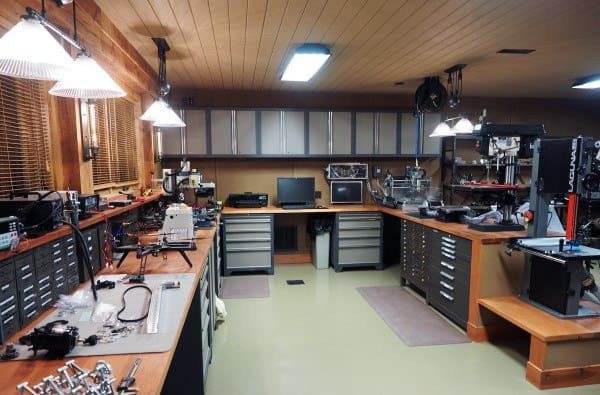 Organize Garage Workshop  Top 60 Best Garage Workshop Ideas Manly Working Spaces