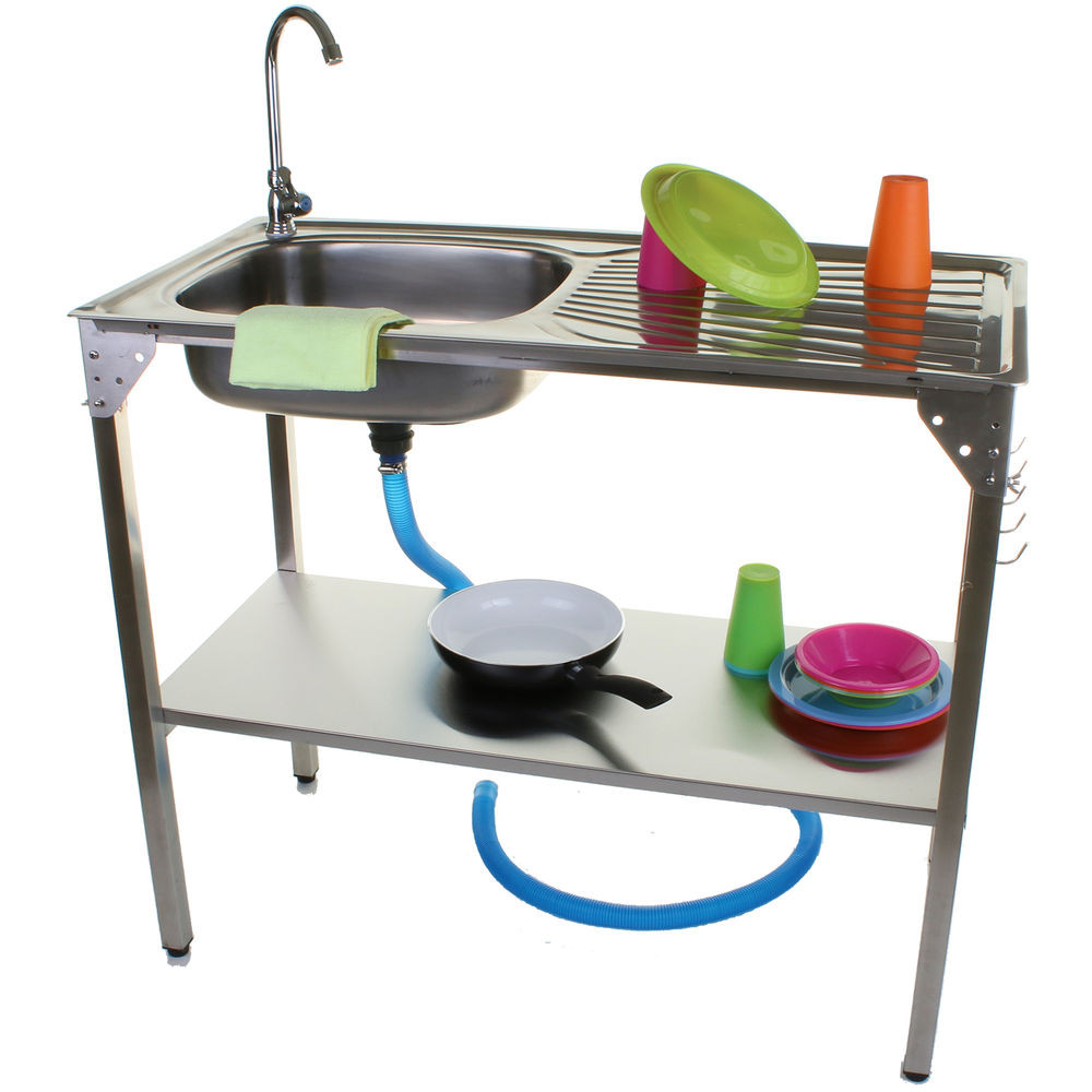 Outdoor Camping Kitchen With Sink  OUTDOOR KITCHEN SINK CAMPING UNIT PORTABLE FOLDING IDEAL