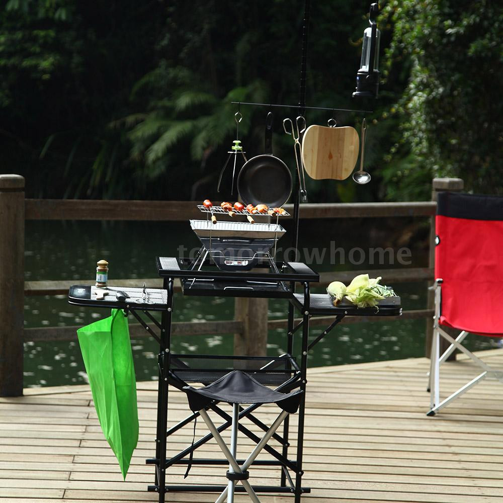 Outdoor Camping Kitchen With Sink  Portable Camping Sink Outdoor Camp Kitchen Sink Grill Food