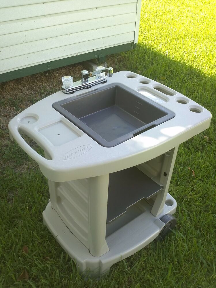 Outdoor Camping Kitchen With Sink  Portable Outdoor Sink Garden Camp Kitchen Camping RV New