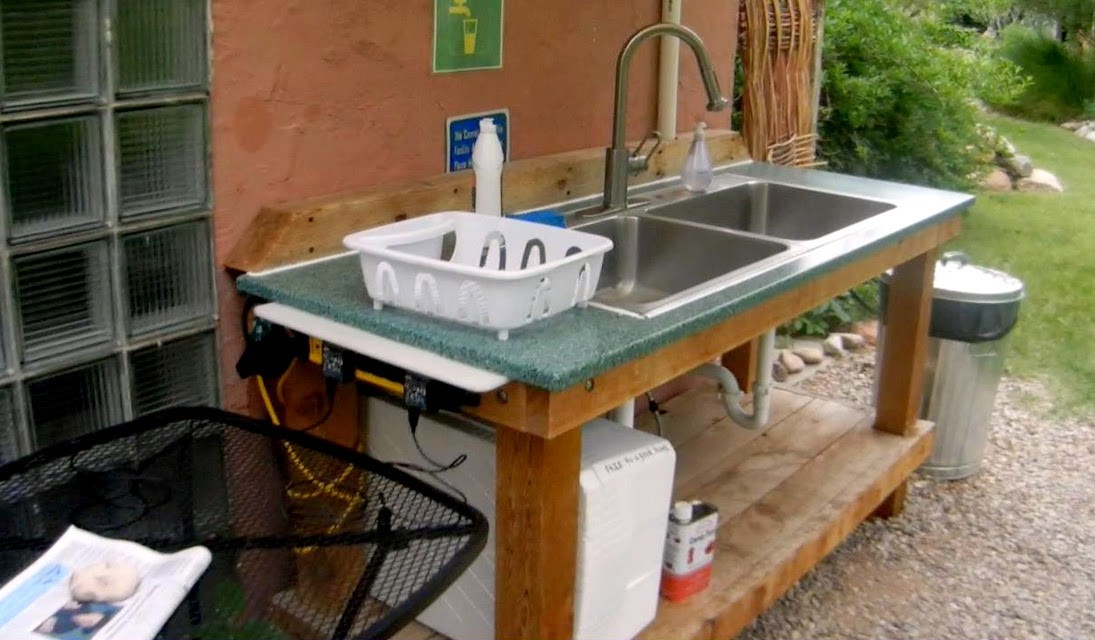 Outdoor Camping Kitchen With Sink  The 99 Cent Chef Camping in Moab Utah Indian Summer