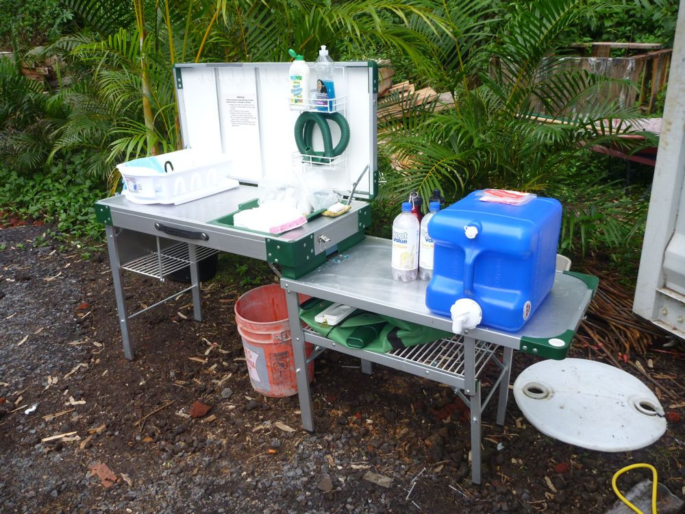 Outdoor Camping Kitchen With Sink  Hawaii House Build fgrid camping