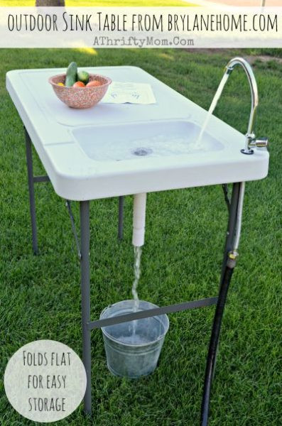 Outdoor Camping Kitchen With Sink  Outdoor Sink Table Review and Giveaway from BrylaneHome