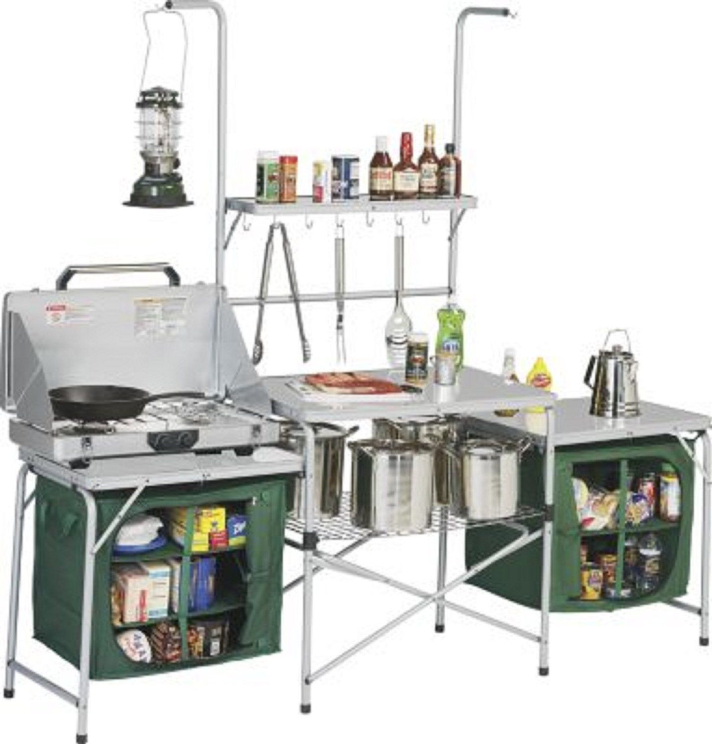 Outdoor Camping Kitchen With Sink  $250 Amazon Outdoor Deluxe Portable Camping Kitchen