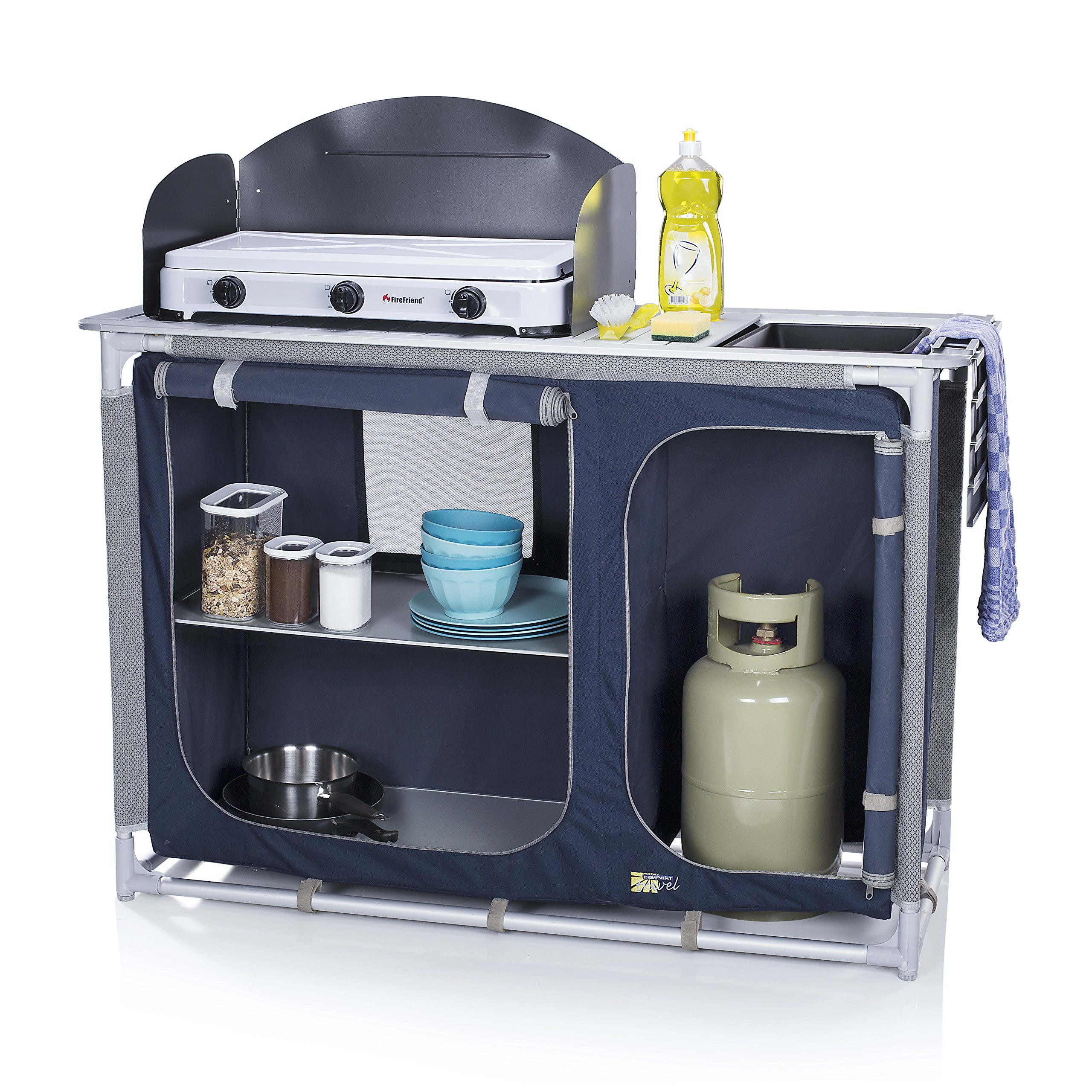Outdoor Camping Kitchen With Sink  CamPart Travel Camping Outdoor Kitchen Sink with