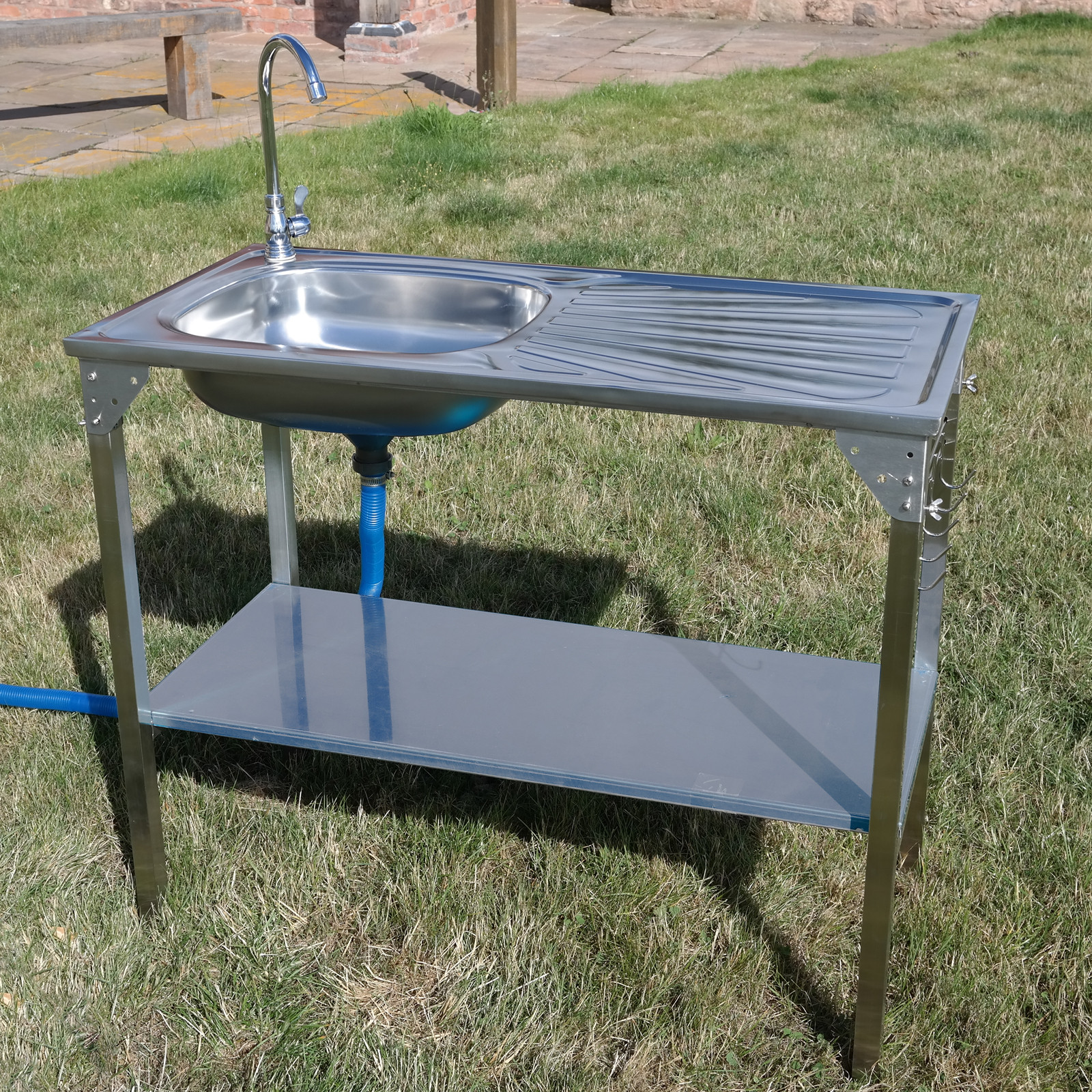 Outdoor Camping Kitchen With Sink  CAMPING SINK OUTDOOR KITCHEN STAINLESS STEEL DRAINING