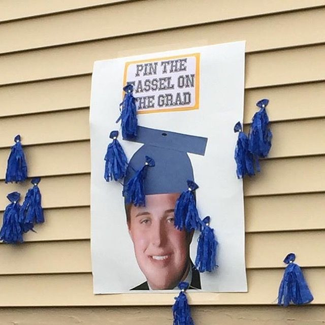 Outdoor Graduation Party Game Ideas  Graduation party game Pin the tassel on the grad Credit to