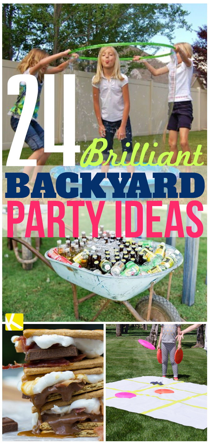 Outdoor Graduation Party Game Ideas  24 Brilliant Backyard Party Ideas The Krazy Coupon Lady