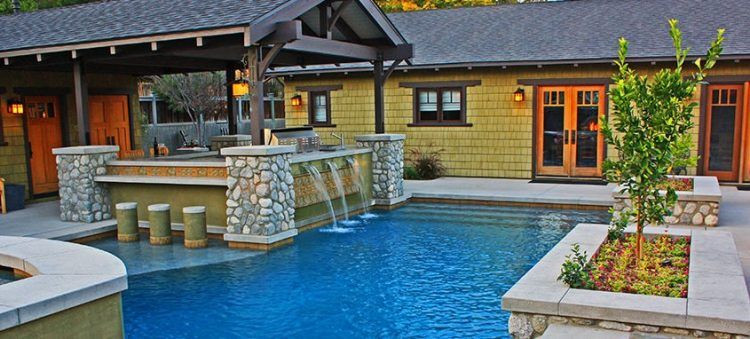 Outdoor Kitchen And Pool  20 Lavish Poolside Outdoor Kitchen Designs