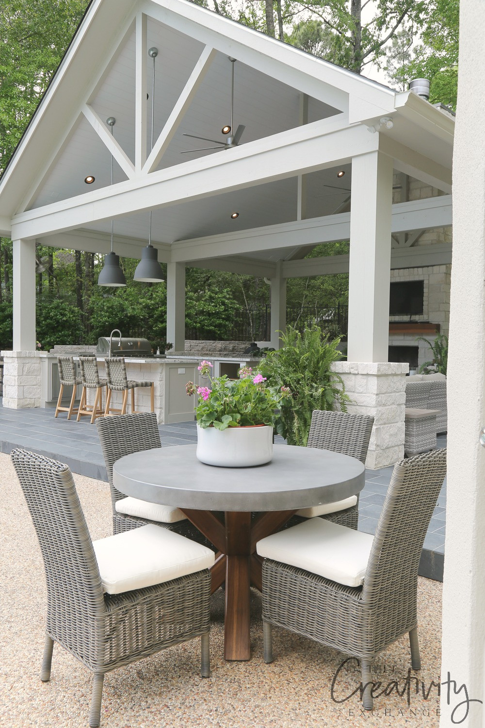 Outdoor Kitchen And Pool  Outdoor Kitchen and Pool House Project Reveal