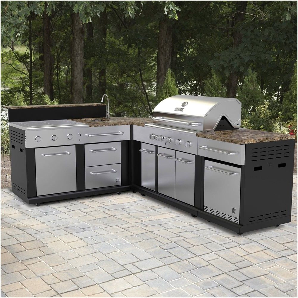 Outdoor Kitchen Lowes  master forge corner modular outdoor kitchen set lowe s