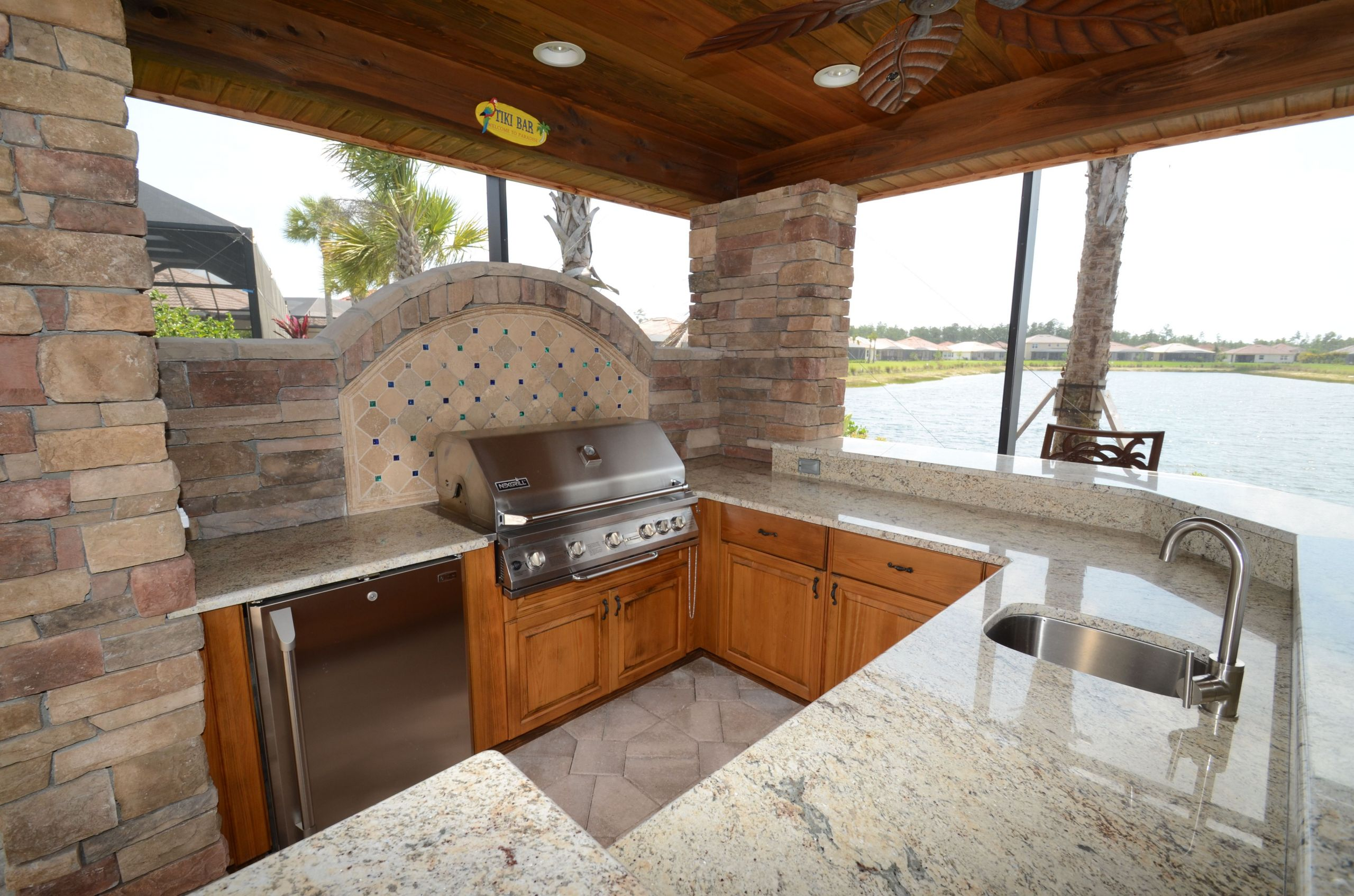 Outdoor Kitchen Naples  Outdoor kitchen on the water by Da Vinci Cabinetry in
