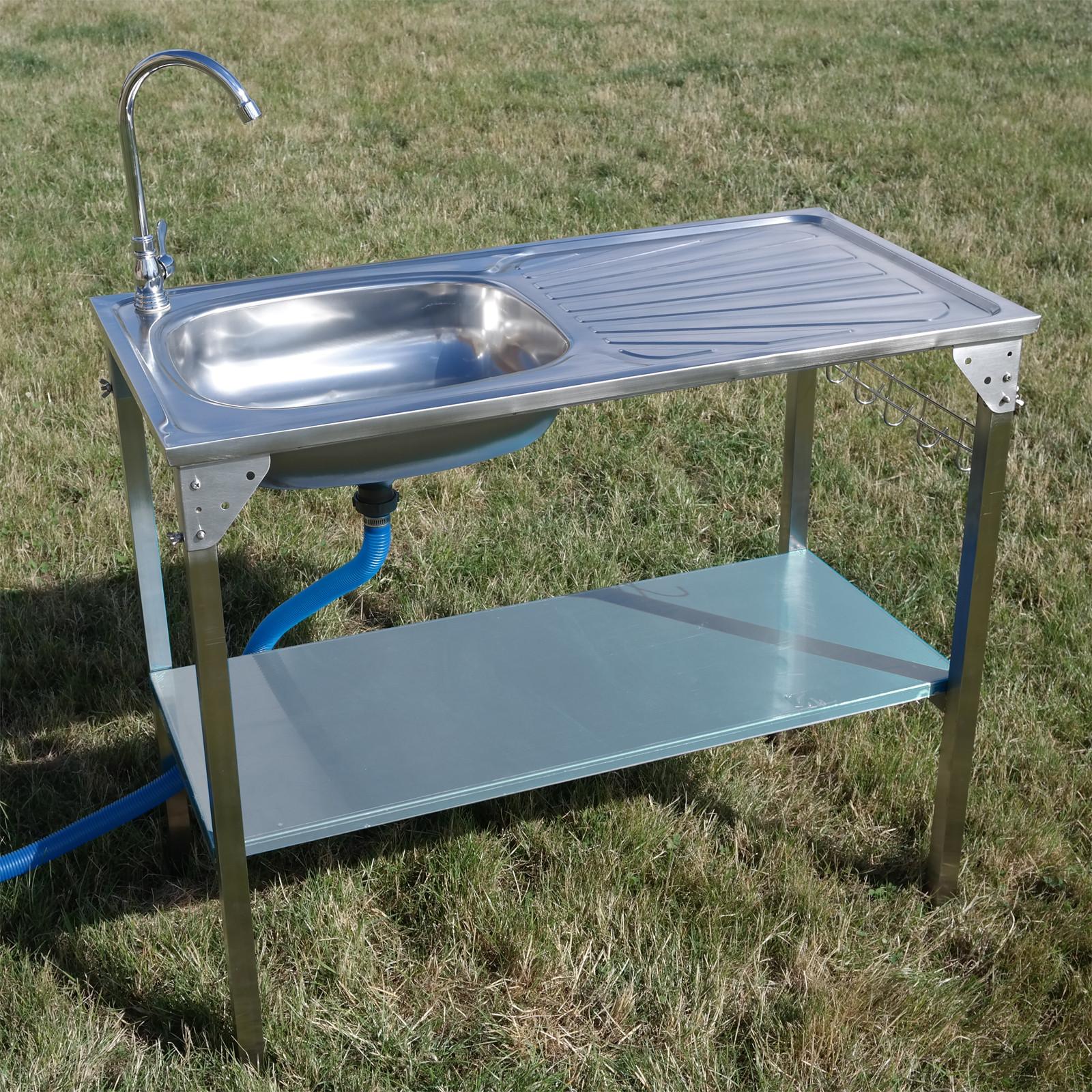 Outdoor Kitchen Sink  CAMPING SINK OUTDOOR KITCHEN STAINLESS STEEL DRAINING