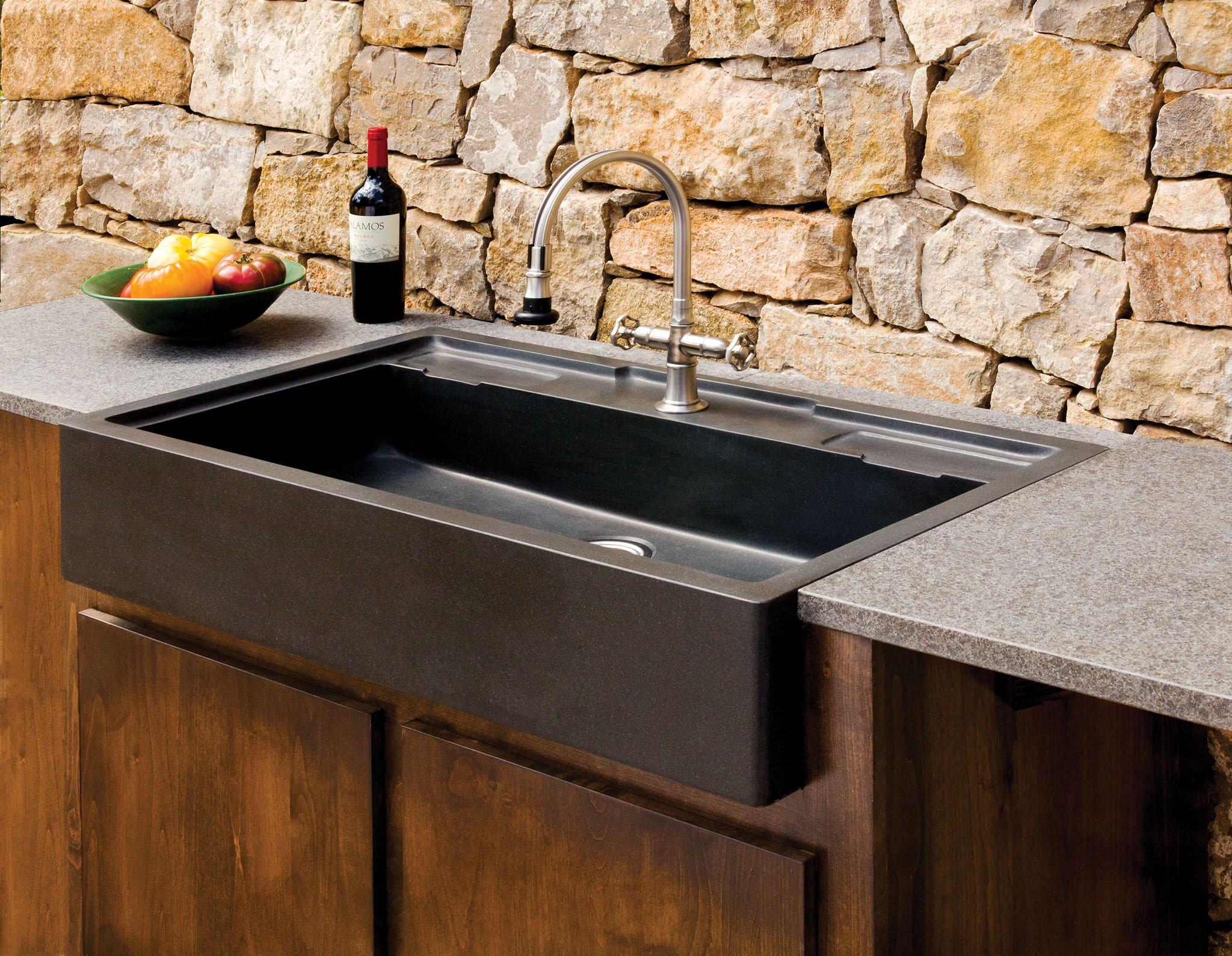 Outdoor Kitchen Sink  Salus Outdoor Kitchen Sink – Stone Forest